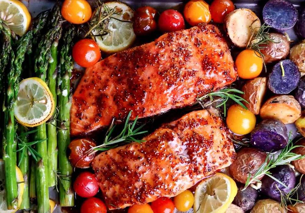 Горбуша с овощами в духовке - пошаговый рецепт, фото 1