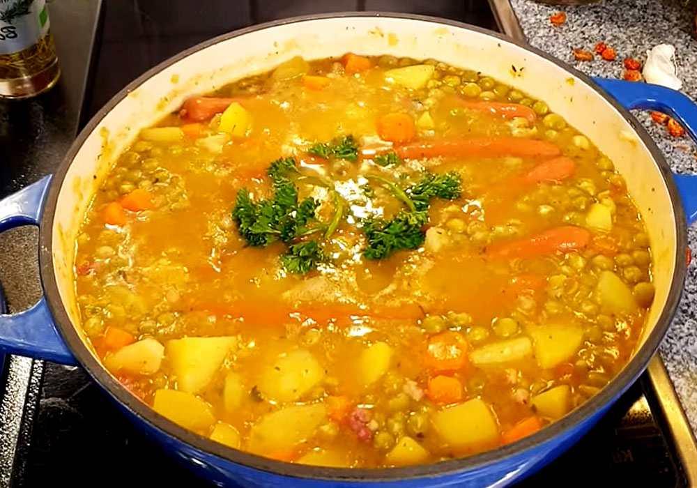 Гороховый суп с беконом - пошаговый рецепт, фото 1