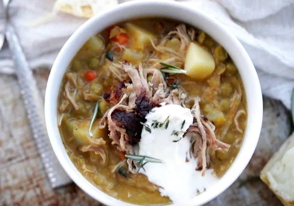 Гороховый суп с мясом свинины - пошаговый рецепт, фото 1