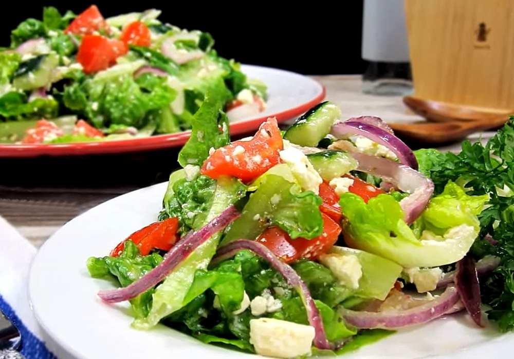 Греческий салат без маслин - пошаговый рецепт, фото 1