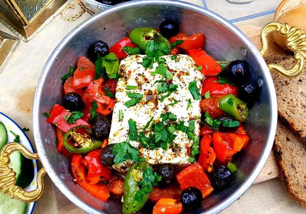Грецький салат без огірків - покроковий рецепт, фото 1