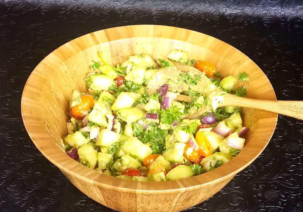 Греческий салат без сыра - пошаговый рецепт, фото 1