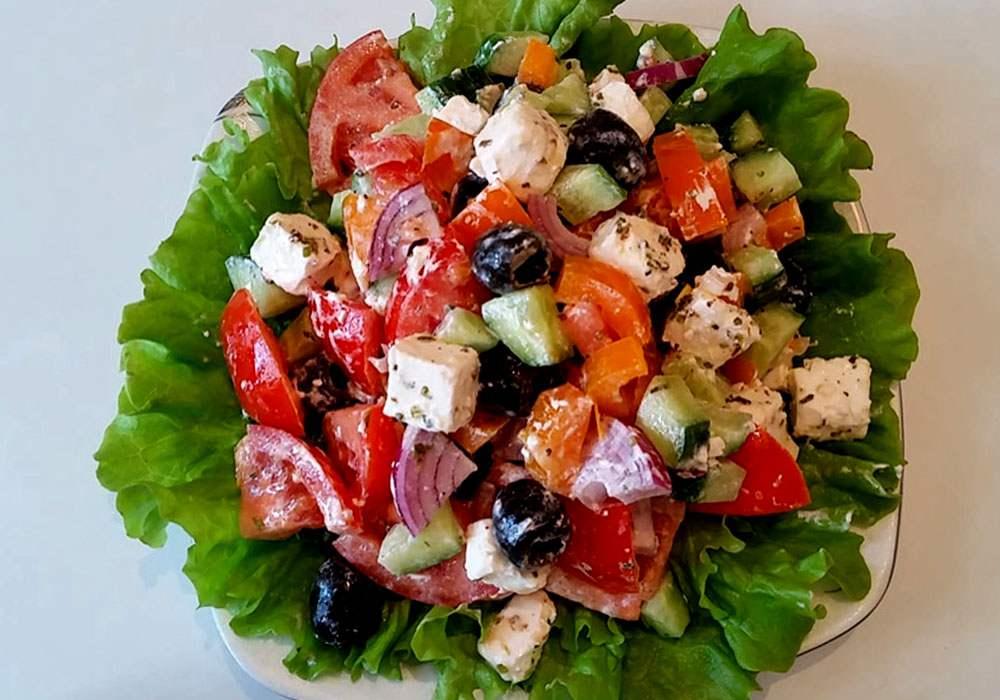 Грецький салат дієтичний - покроковий рецепт, фото 1