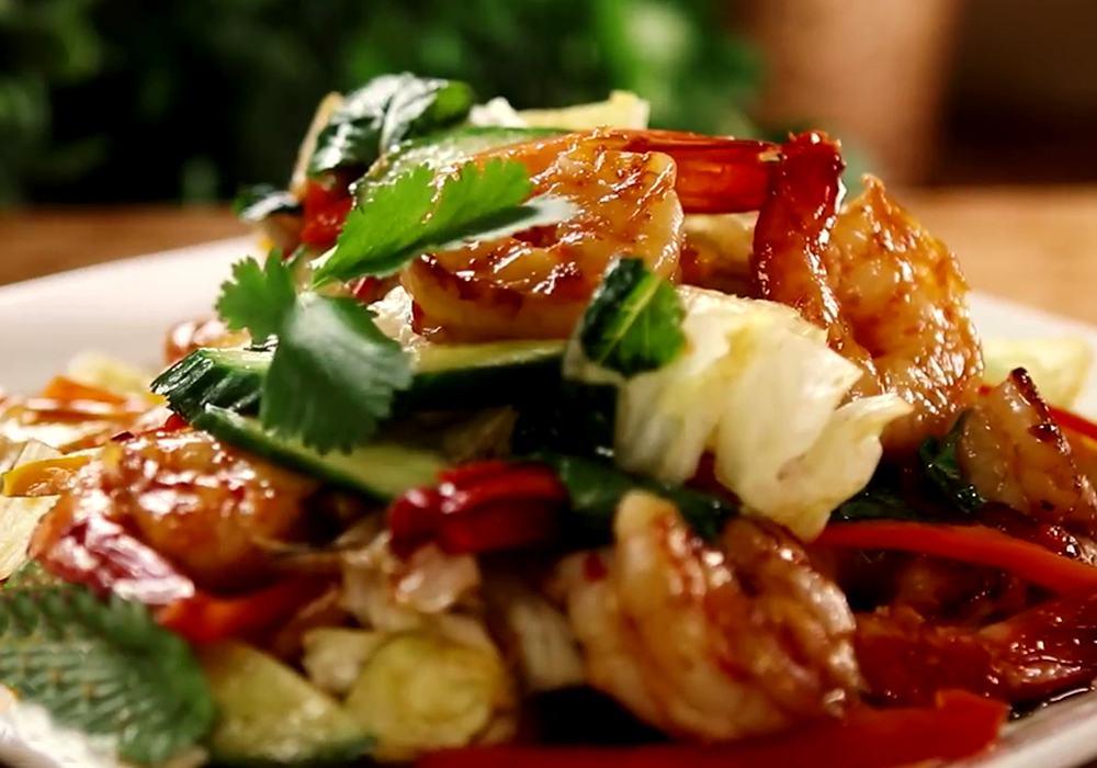 Греческий салат из креветок - пошаговый рецепт, фото 1