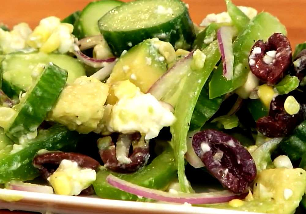 Грецький салат з огірків - покроковий рецепт, фото 1
