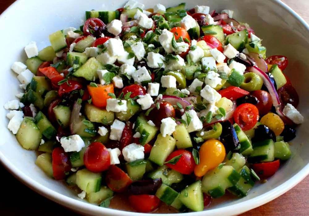 Греческий салат классический с фетой - пошаговый рецепт, фото 1
