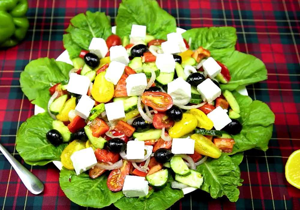 Греческий салат классический в домашних условиях - пошаговый рецепт, фото 1