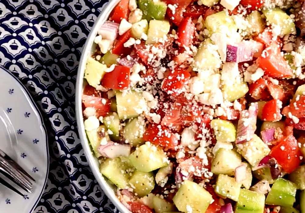 Греческий салат классический - пошаговый рецепт, фото 1