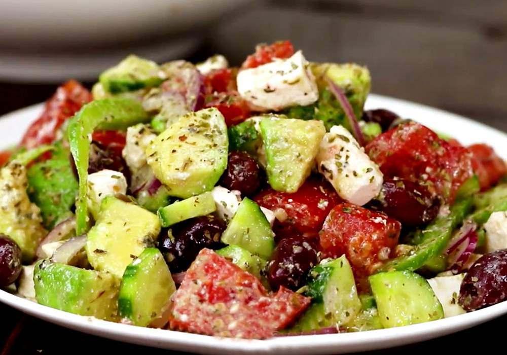 Греческий салат рецепт с фетаксой - пошаговый рецепт, фото 1