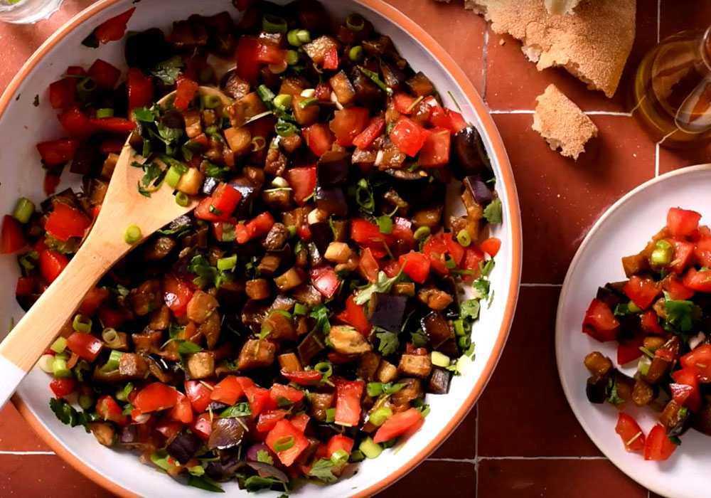 Греческий салат с баклажанами - пошаговый рецепт, фото 1
