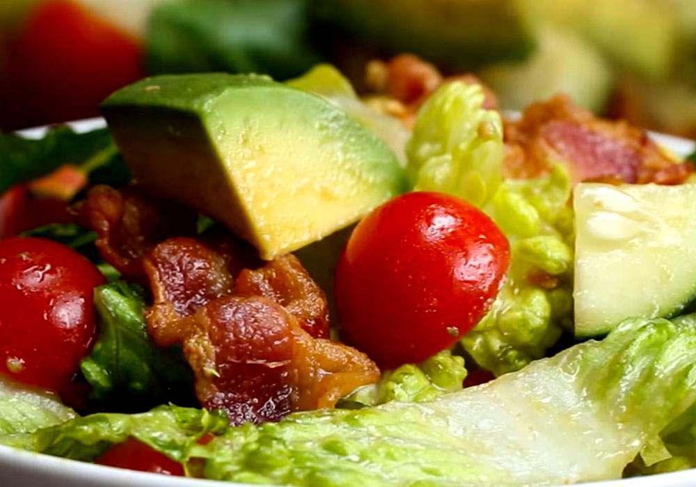 Грецький салат з беконом - покроковий рецепт, фото 1