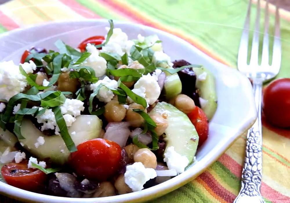 Греческий салат с брынзой - пошаговый рецепт, фото 1