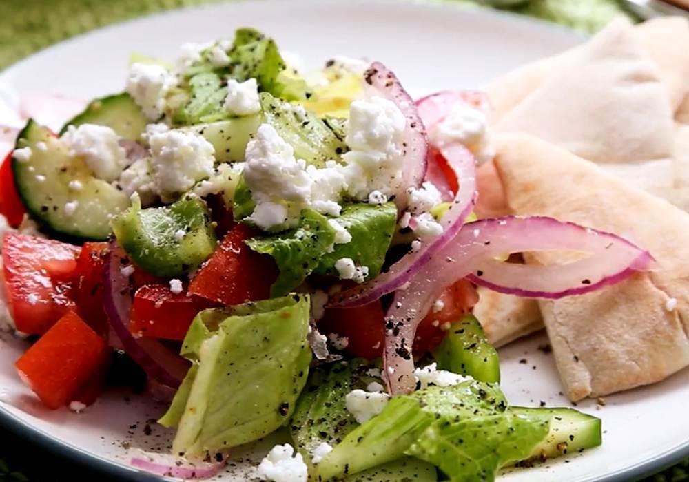 Грецький салат з пекінською капустою - покроковий рецепт, фото 1