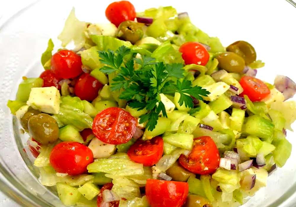 Грецький салат з помідорами чері - покроковий рецепт, фото 1