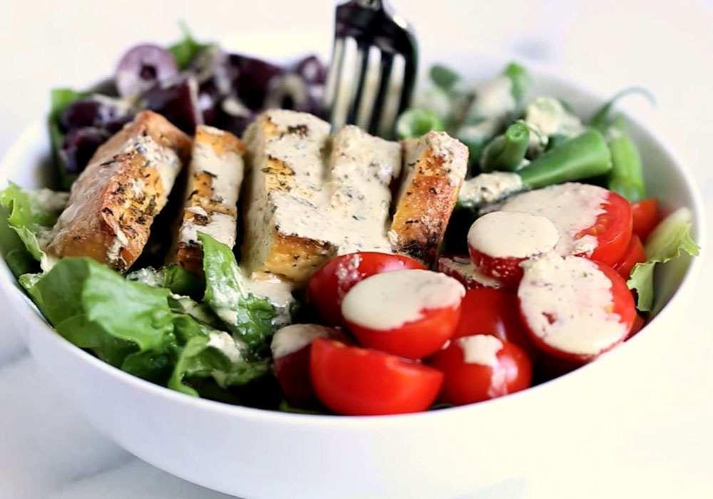 Грецький салат з тофу - покроковий рецепт, фото 1