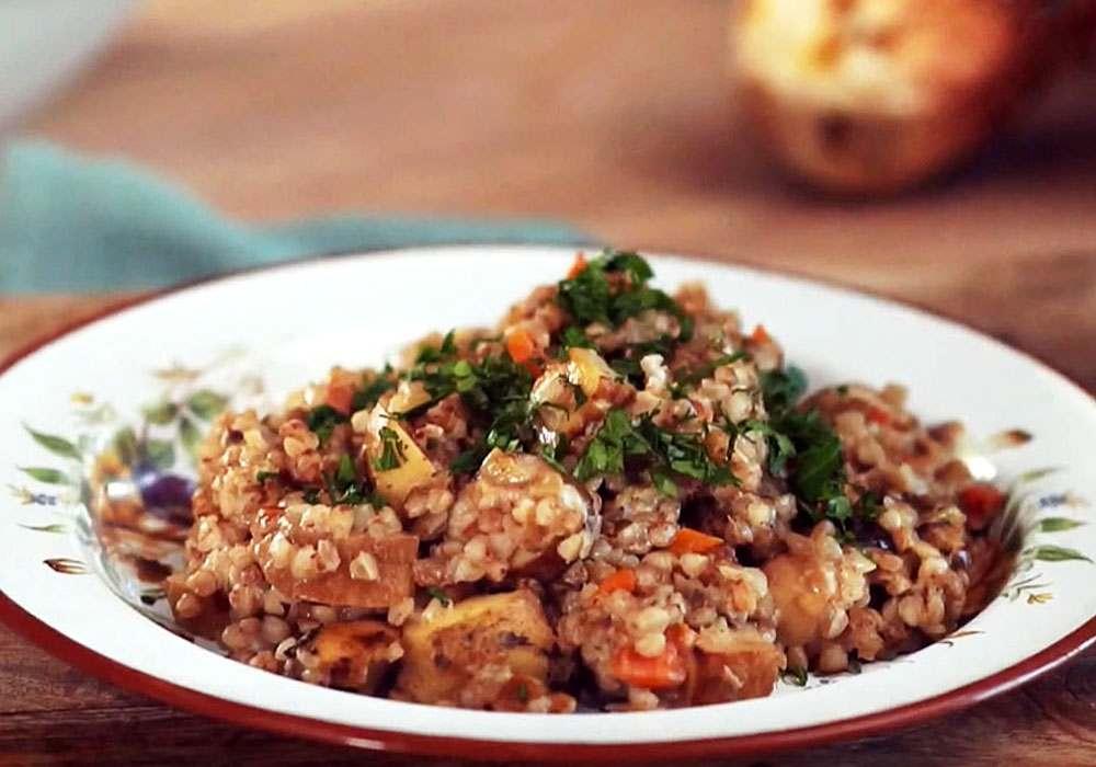 Гречана каша с грибами - покроковий рецепт, фото 1