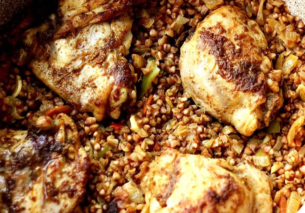 Гречка с курицей - пошаговый рецепт, фото 1