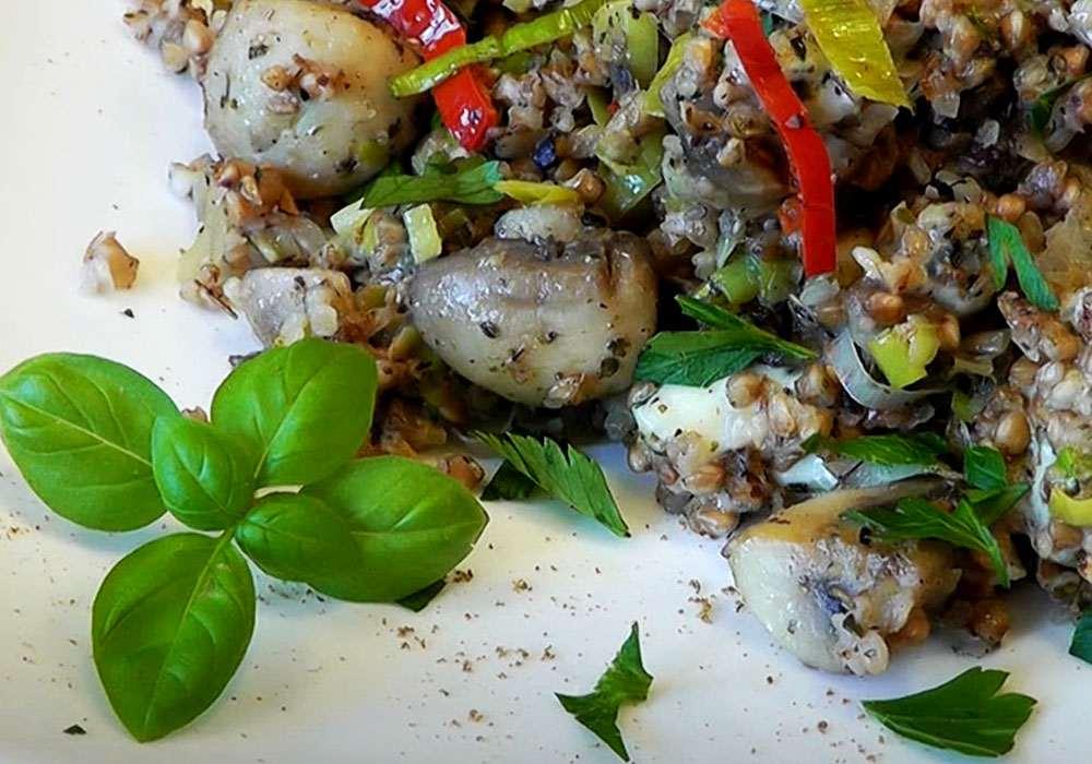 Гречана каша з грибами та цибулею - покроковий рецепт, фото 1