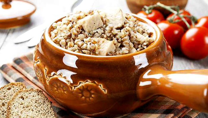 Гречана каша з м'ясом в казані - покроковий рецепт, фото 1