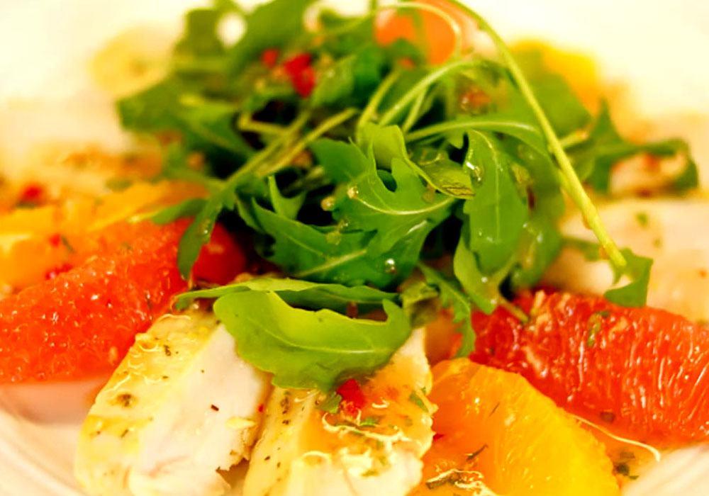 Грейпфрутовый салат с курицей - пошаговый рецепт, фото 1