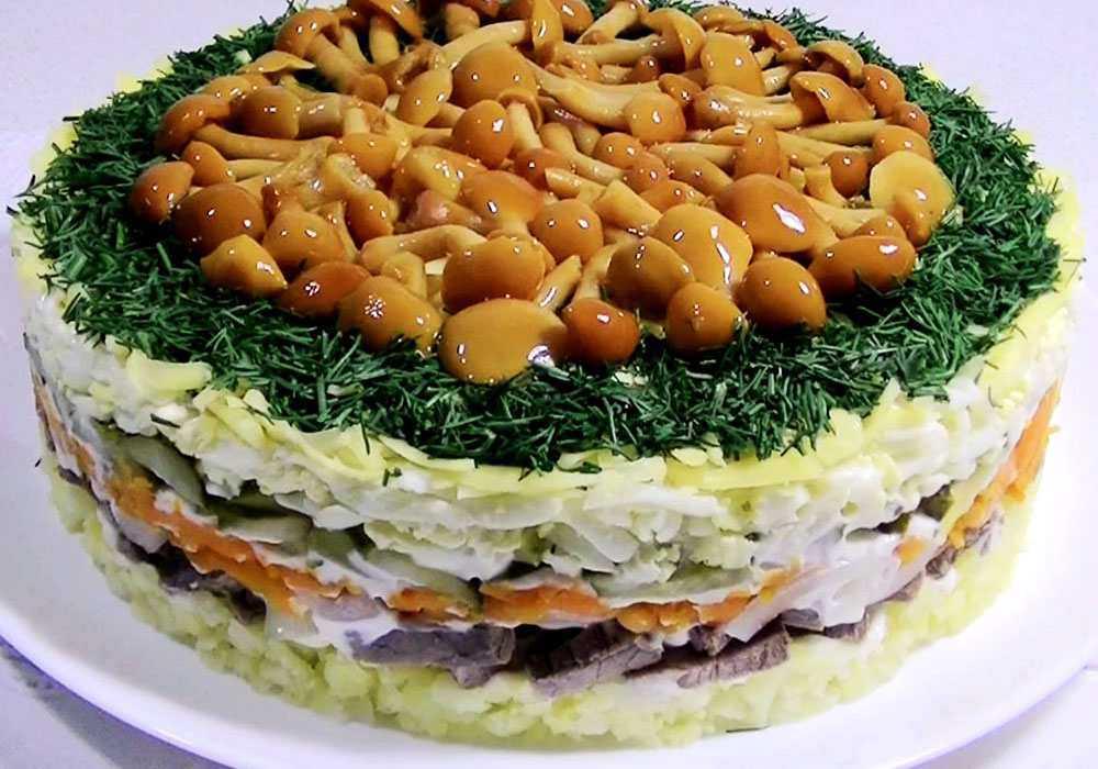 Грибна галявина салат з опеньками - покроковий рецепт, фото 1