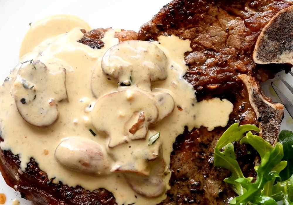Грибний соус до стейку - покроковий рецепт, фото 1