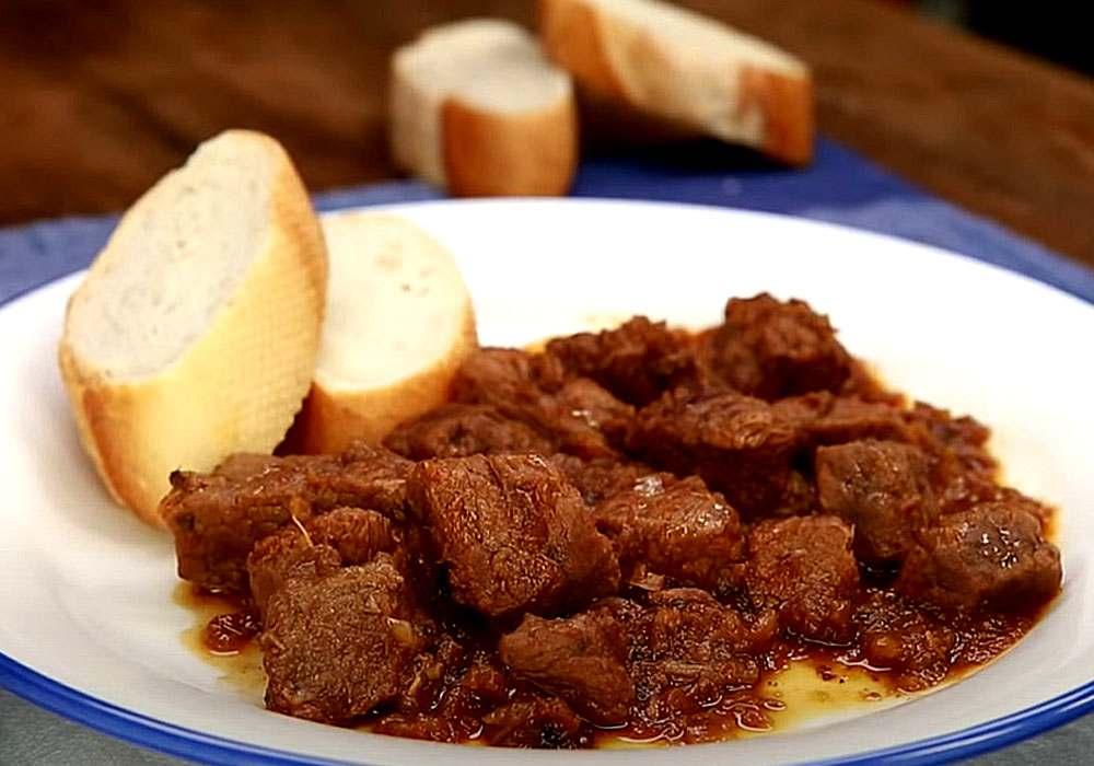 Гуляш из мяса лося - пошаговый рецепт, фото 1