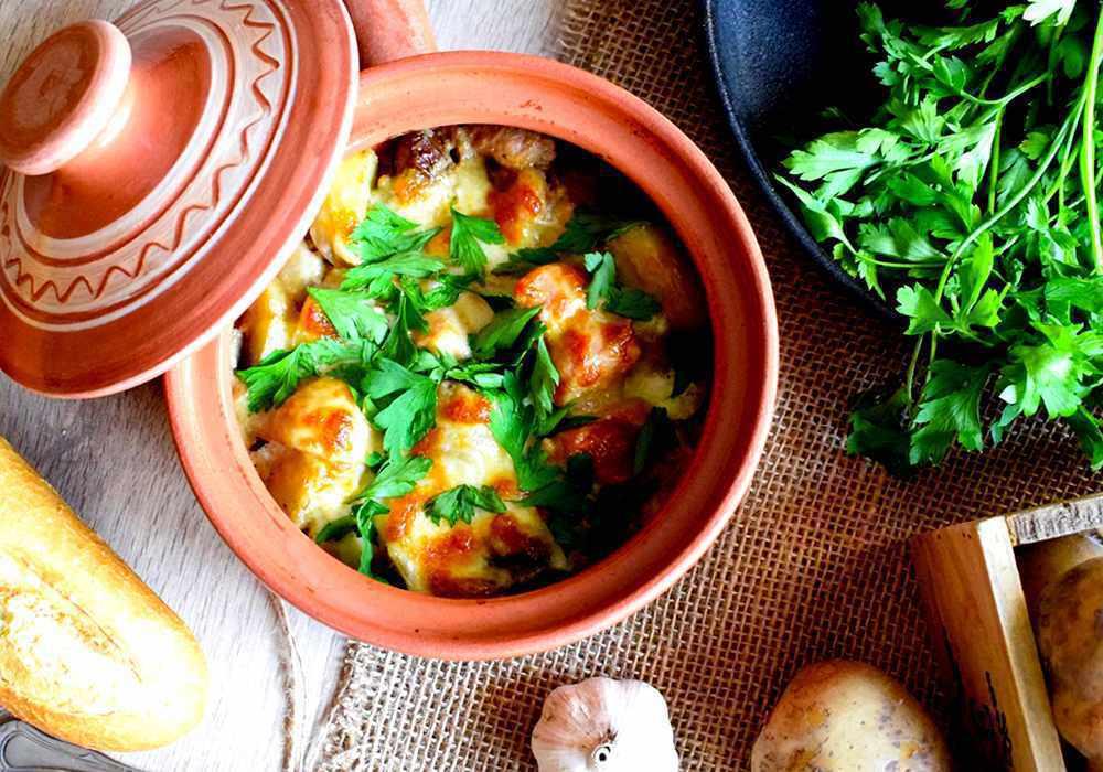 Жульєн з куркою і грибами і картоплею - покроковий рецепт, фото 1