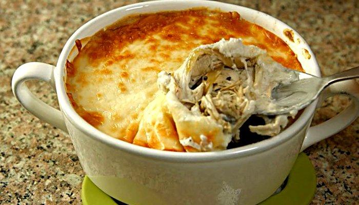 Жульен с курицей и грибами в горшочках - пошаговый рецепт, фото 1