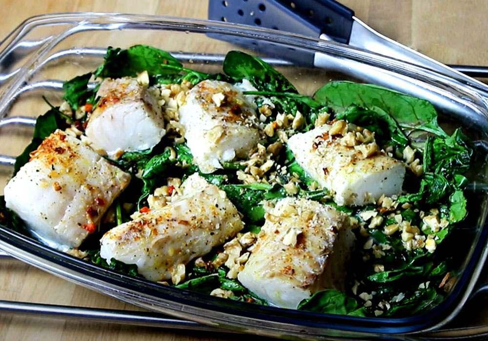 Хек на овощной подушке - пошаговый рецепт, фото 1