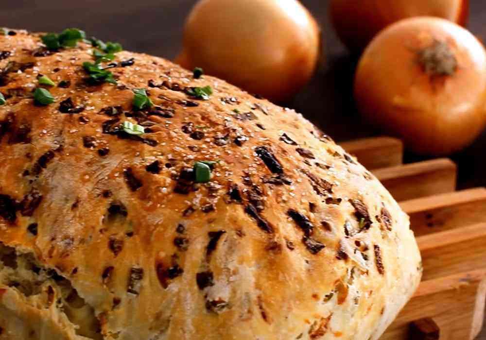 Хліб домашній зі смаженою цибулею - покроковий рецепт, фото 1