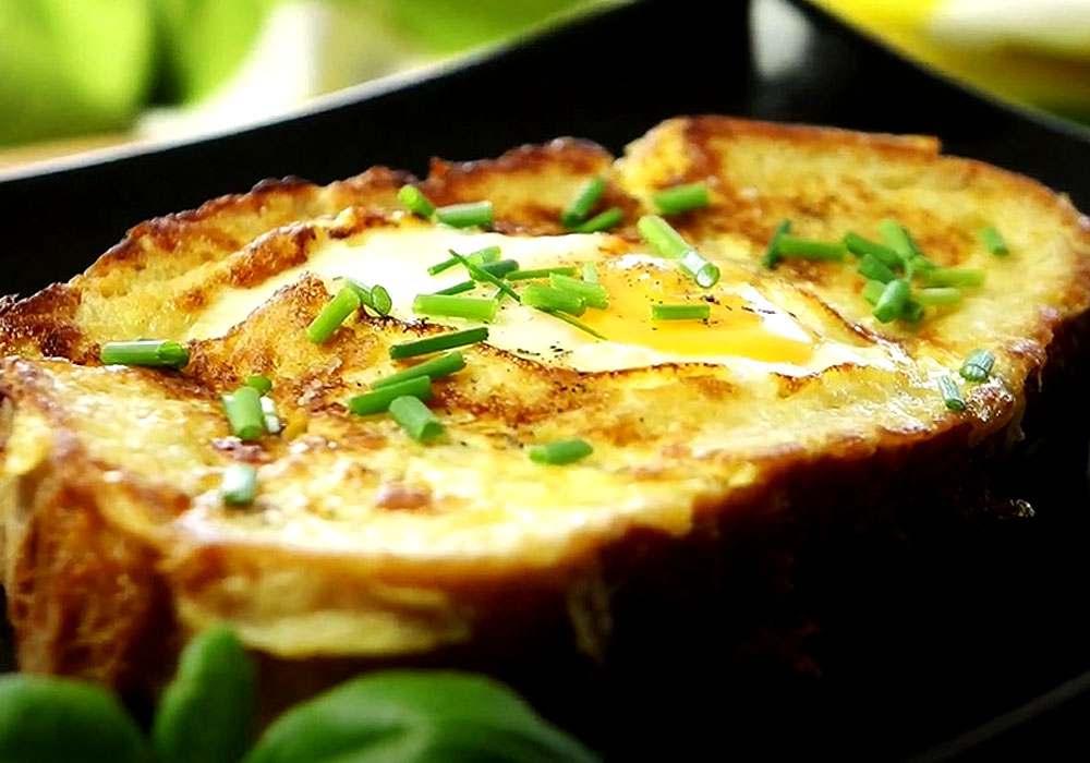 Хліб з яйцем і спеціями - покроковий рецепт, фото 1