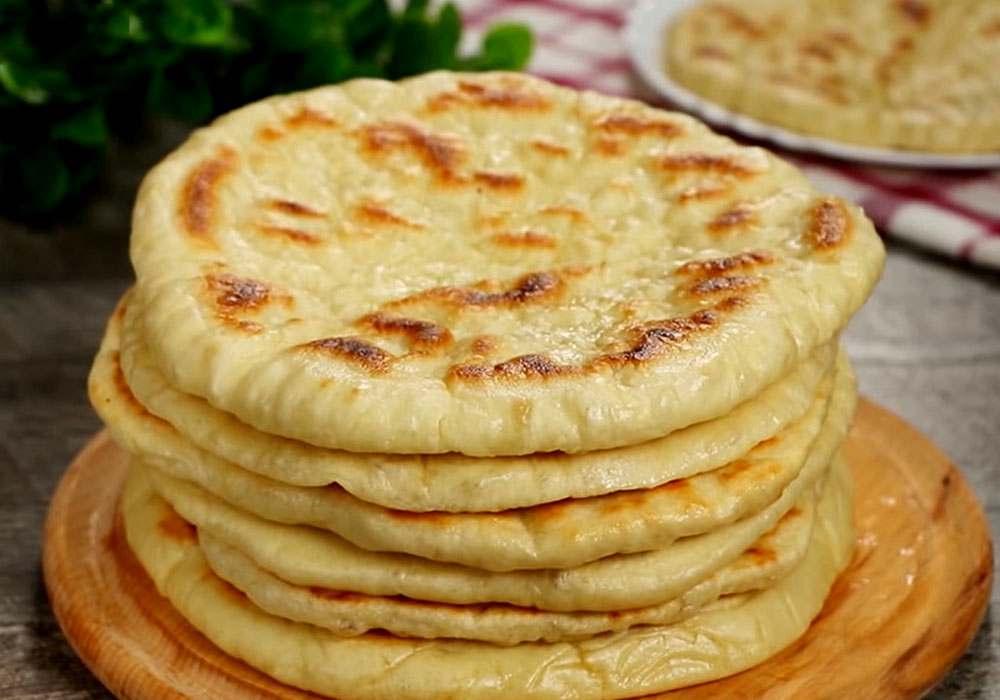 Хлебные лепешки на сковороде - пошаговый рецепт, фото 1