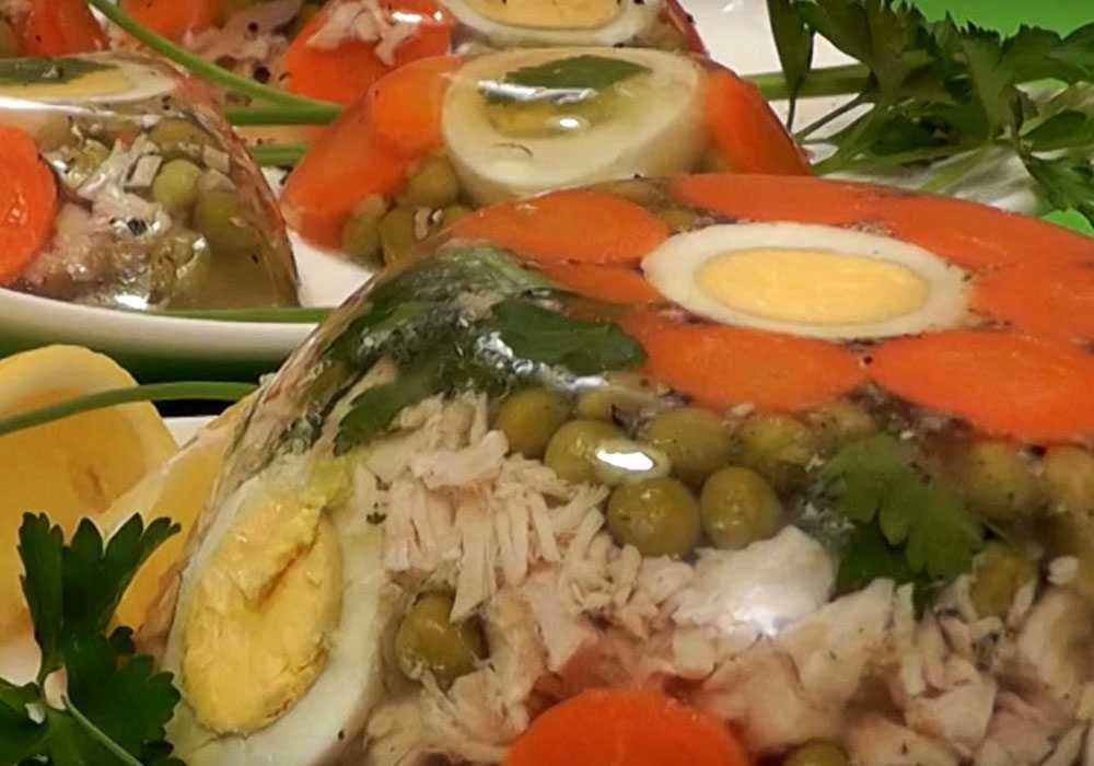 Холодец с зеленым горошком - пошаговый рецепт, фото 1