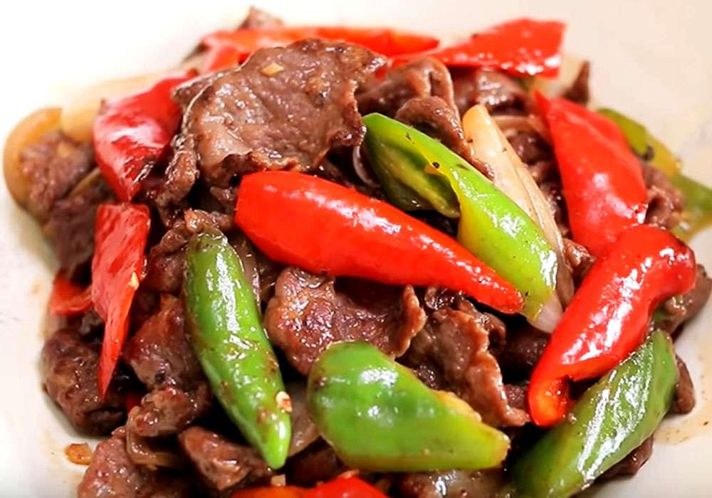 Хрустка смажена яловичина з овочами - покроковий рецепт, фото 1