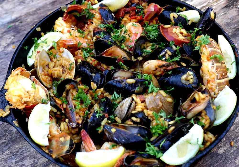 Испанская паэлья с морепродуктами - пошаговый рецепт, фото 1