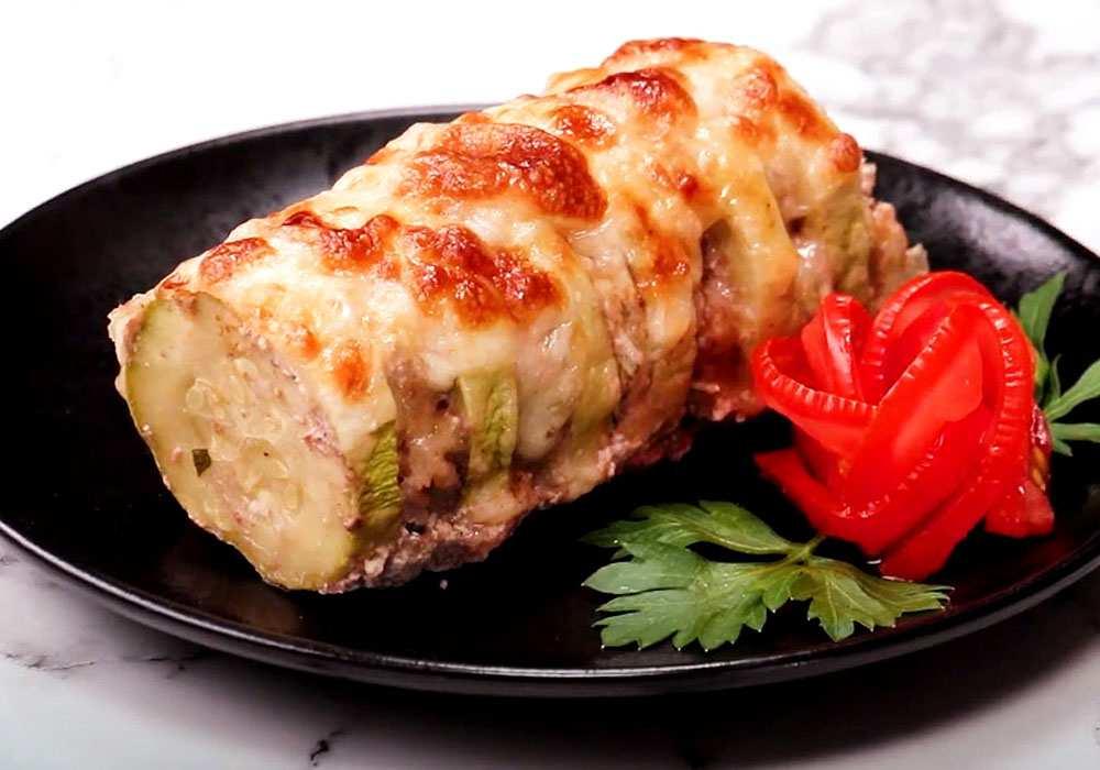 Кабачки, запеченные в духовке с фаршем и рисом - пошаговый рецепт, фото 1