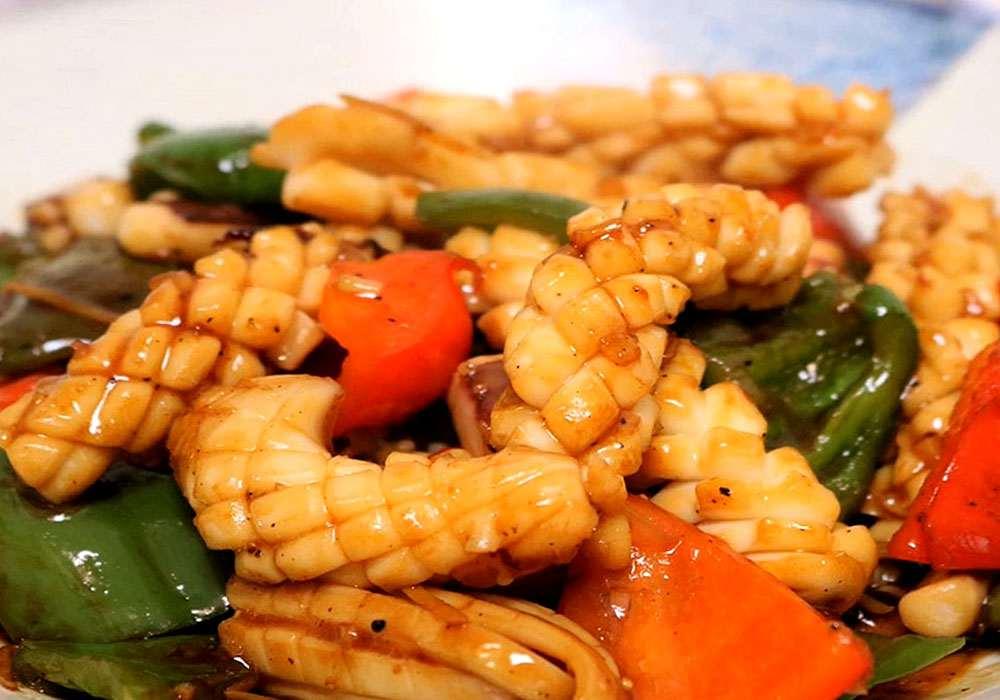 Кальмар в кисло-сладком соусе - пошаговый рецепт, фото 1