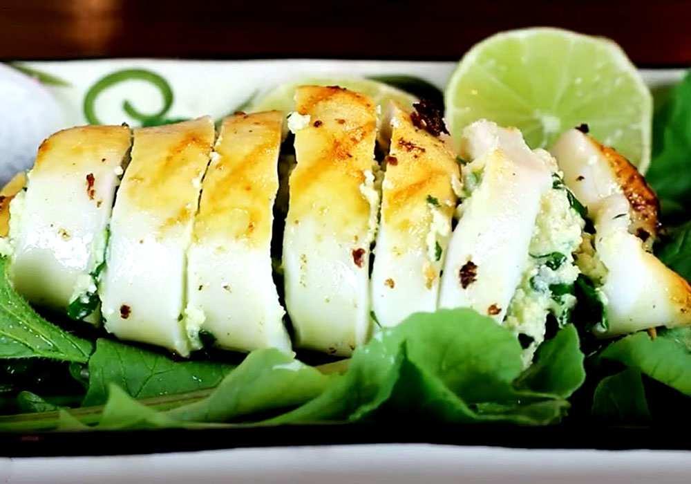 Кальмары фаршированные - пошаговый рецепт, фото 1