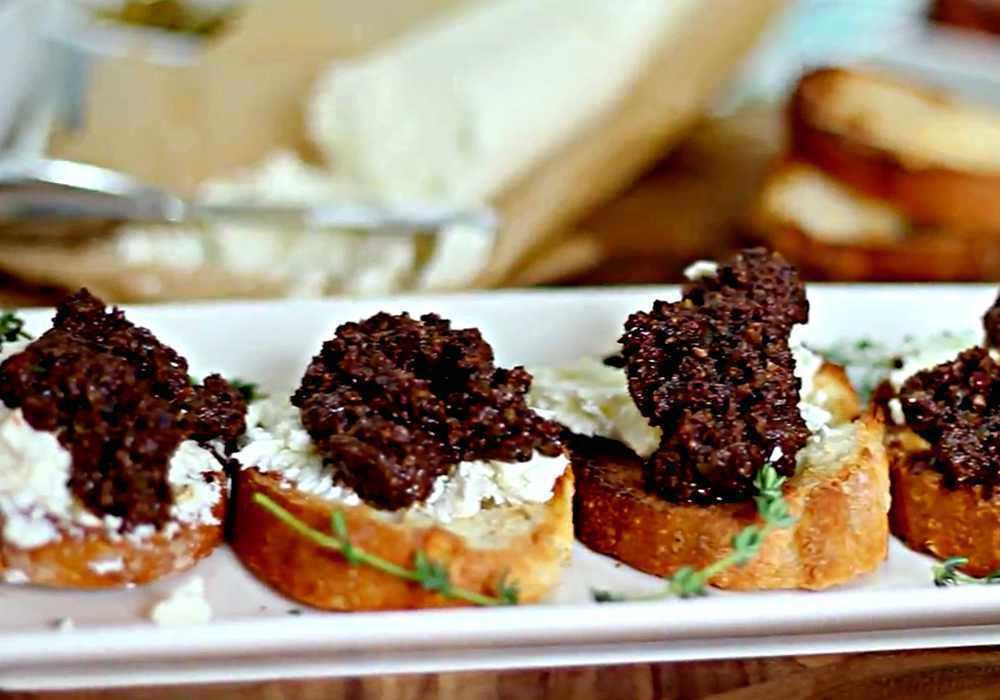 Канапе с оливками - пошаговый рецепт, фото 1