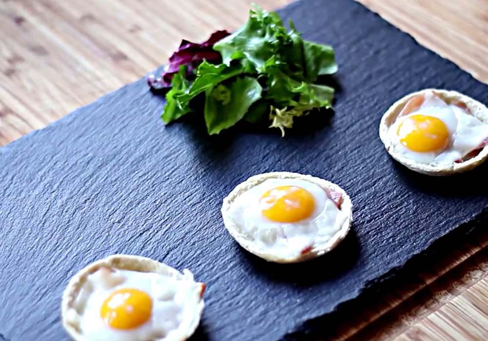 Канапе з перепелиними яйцями - покроковий рецепт, фото 1
