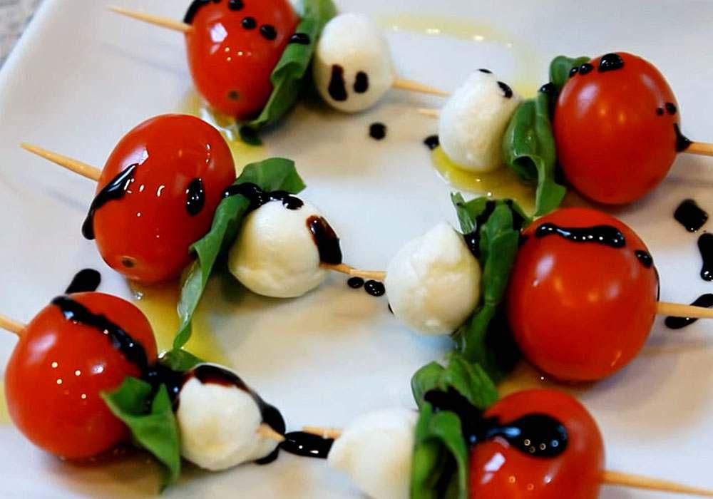 Канапе с помидорами черри - пошаговый рецепт, фото 1
