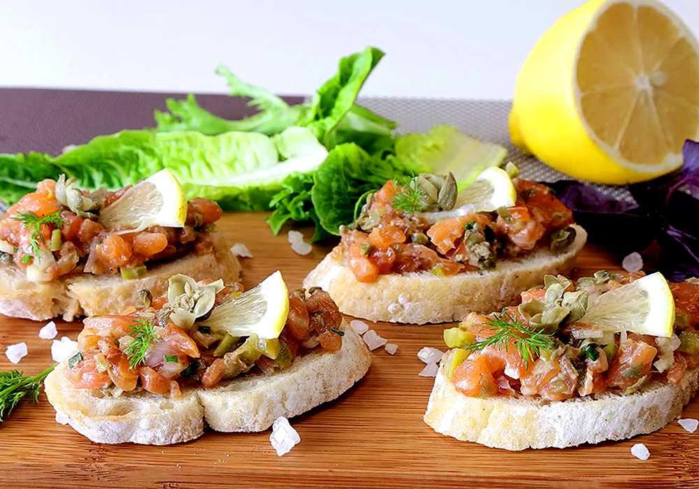 Канапе с рыбой - пошаговый рецепт, фото 1