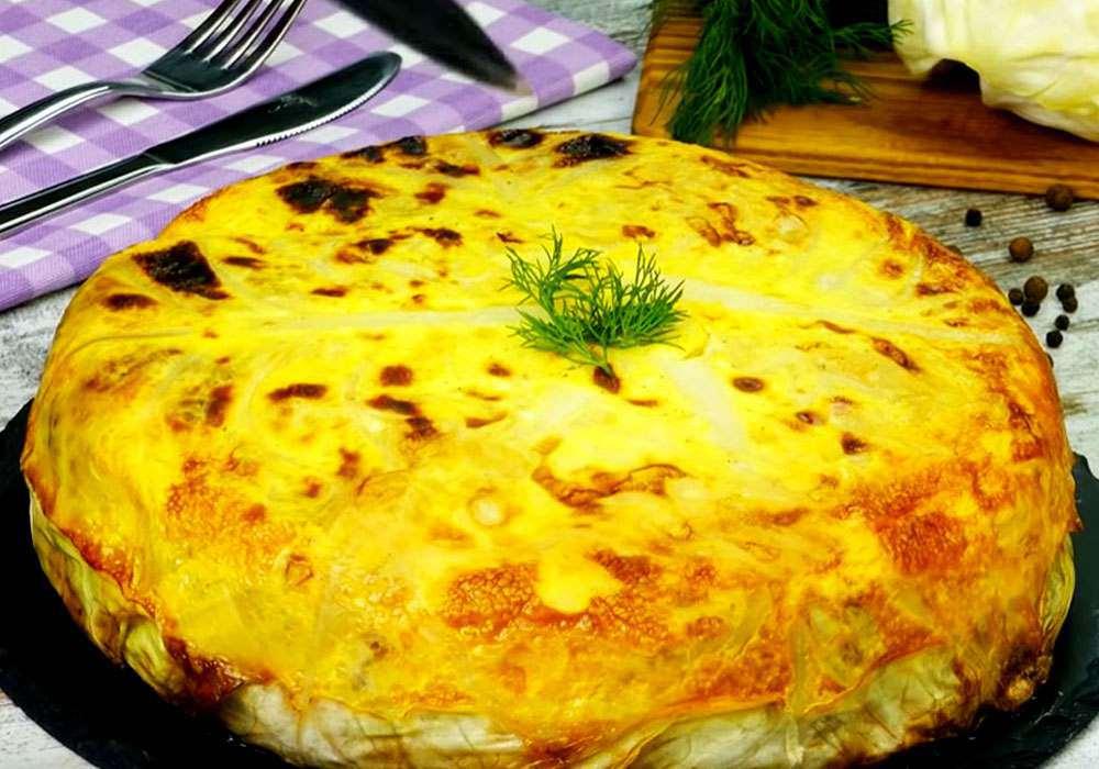 Капустяний пиріг - покроковий рецепт, фото 1