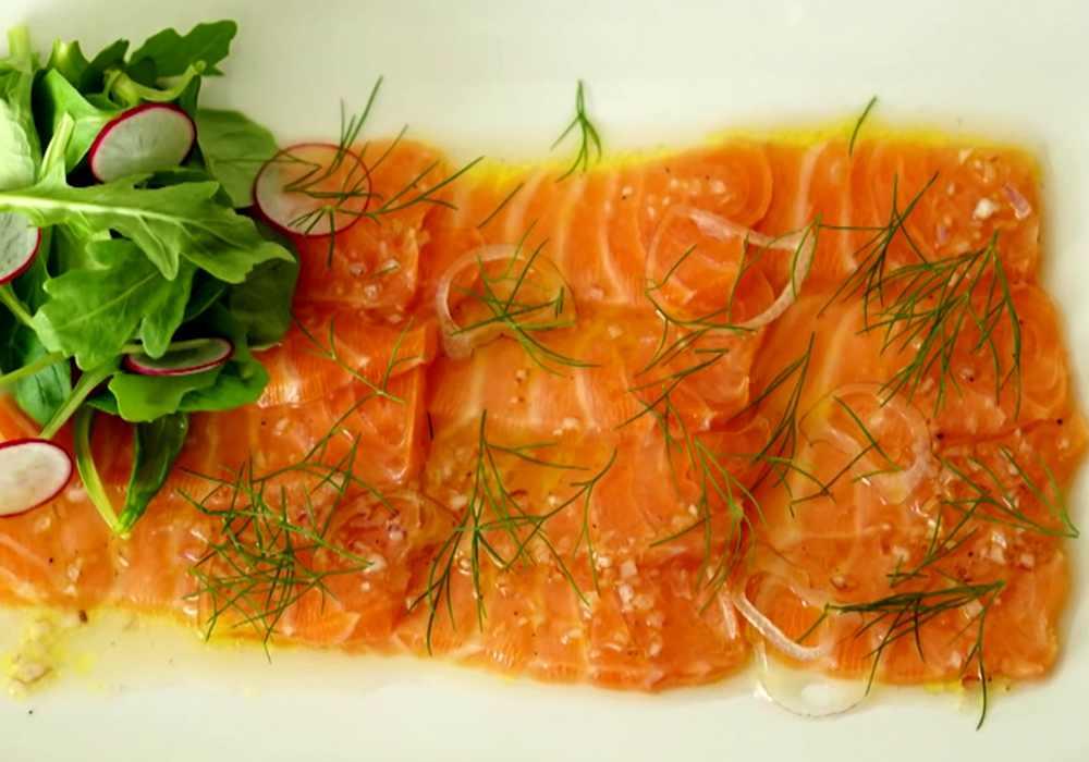 Карпаччо из лосося - пошаговый рецепт, фото 1