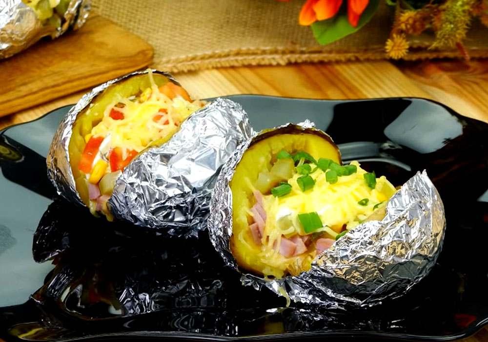 Картофель, запеченный в фольге - пошаговый рецепт, фото 1