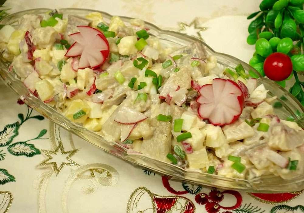 Картофельный салат с сельдью - пошаговый рецепт, фото 1