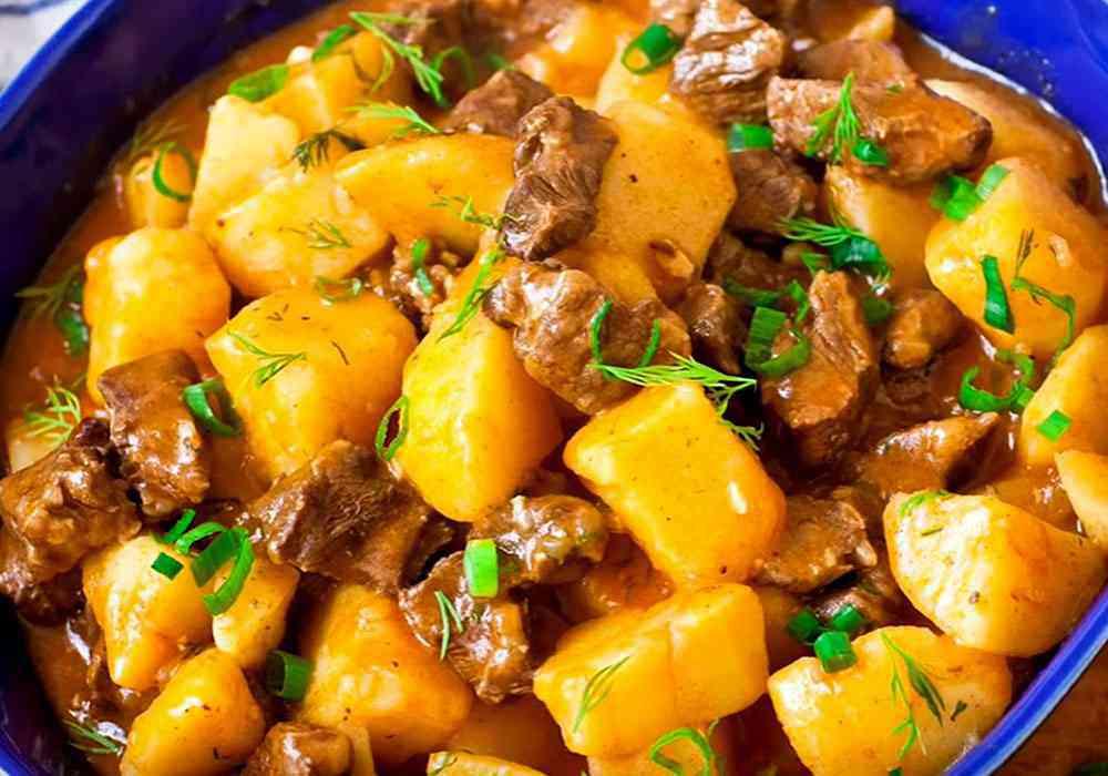 Картошка с мясом - пошаговый рецепт, фото 1