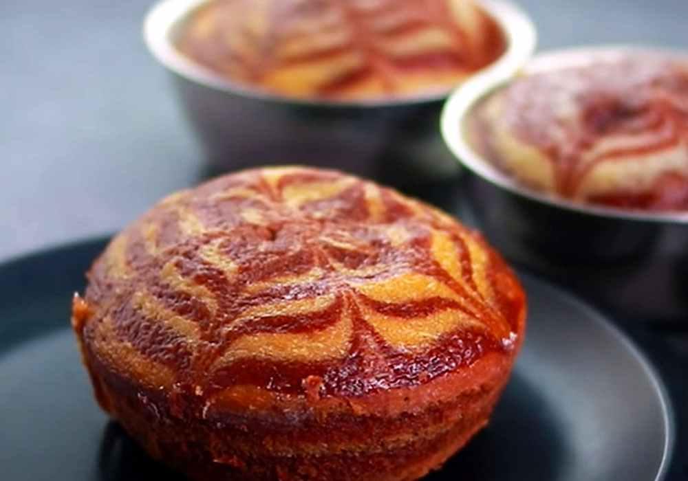 Кекс «Зебра» - пошаговый рецепт, фото 1