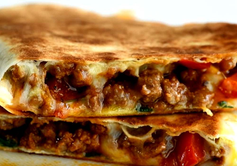 Кесадилья с гуакамоле и печеным перцем - пошаговый рецепт, фото 1